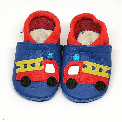 Kinderlederschuh Modell Feuerwehr