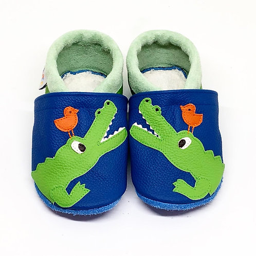 Kinderlederschuh Modell Krokodil
