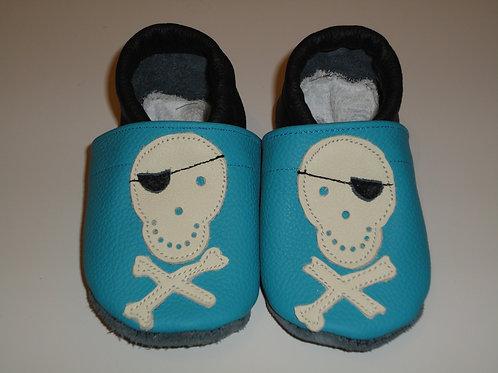 Kinderlederschuh Modell Totenkopf Junge