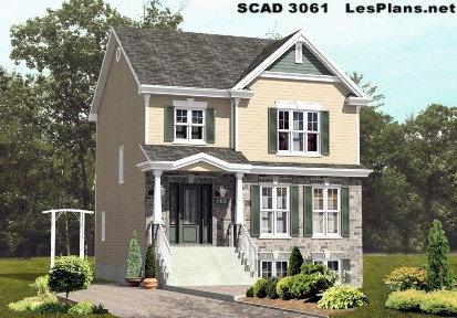 SCAD 3061 28pi. x 29pi. (3 chambres)