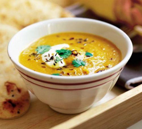 Lentil soup & Spiced carrot