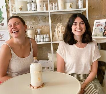 Cécile et Marine Fondatrice Pikoc produits ménagers écologiques et parfumés