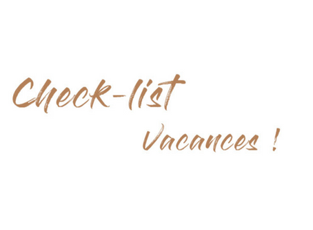 La check-list vacances