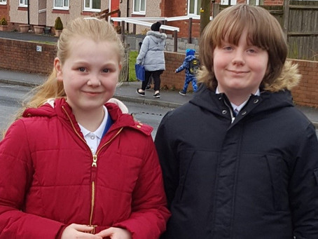 Keira and Caden fundraise for Sea-changers