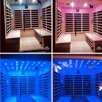 Sauna avec bluetooth et luminothérapie
