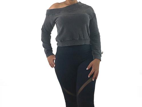 Off-Shoulder Hi-Lo Pullover