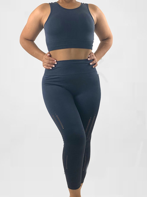 Seamless Mineral Wash  Sports Bra and Matching Highwaist Leggings