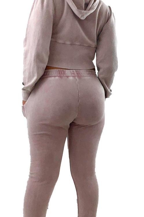 Cropped Jacquard hoodie jacket & Matching Sweatpants