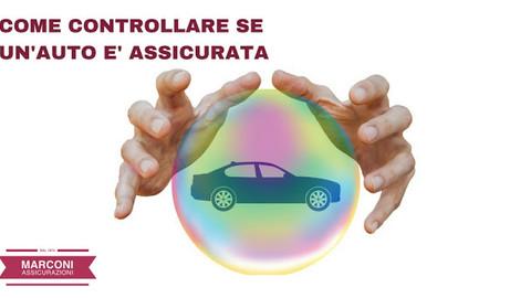 COME CONTROLLARE SE UN'AUTO E' ASSICURATA