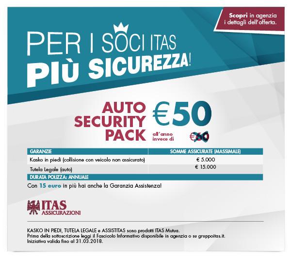 Promozione Auto Security Pack ITAS Assicurazioni Auto Verona