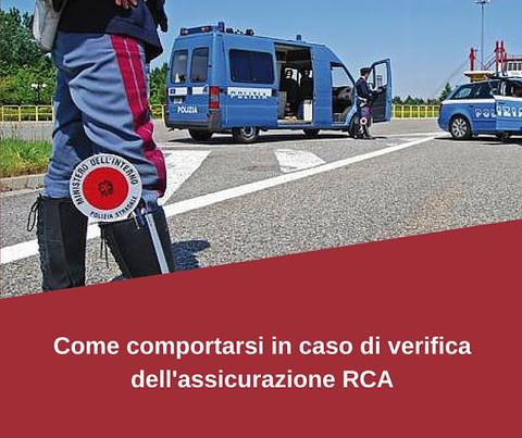 ASSICURAZIONE RCA - come comportarsi in caso di controlli