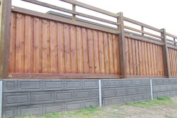 Concrete Retaining with Timber Fenci