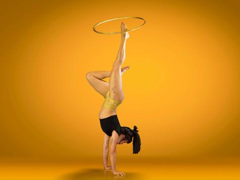 Circus Arts Hoop Hand balancing