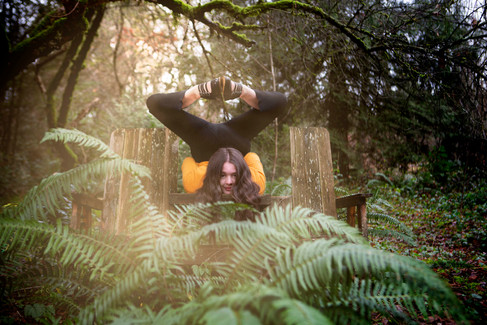 Contortionist in the woods