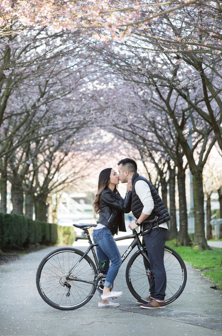 A Cherry Blossom Engagement