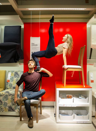 Date Night at Ikea - Hand to hand performers