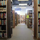 Greensboro book aisles, 2017