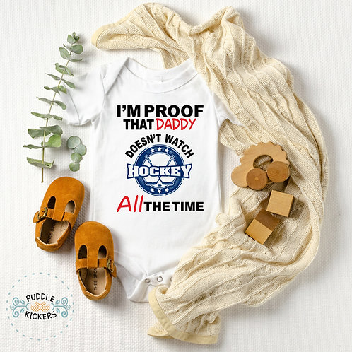 Hockey Baby Onesie® for Boy or Girl | Baby Shower Gift or Pregnancy Announcent