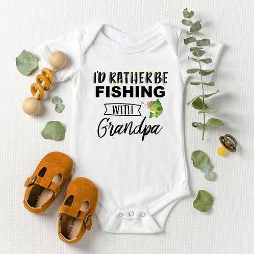 Personalized Fishing Onesie® for Boy or Girl | Grandpa, Uncle | Baby Shower Gift