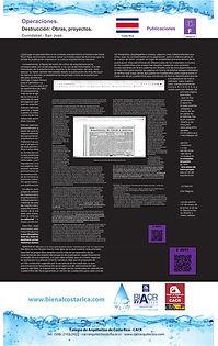 Afiche de Operaciones para la bienal de arquitectura