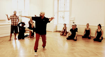 Sergei Ostrenko leading Physical Theatre Workshop with international group