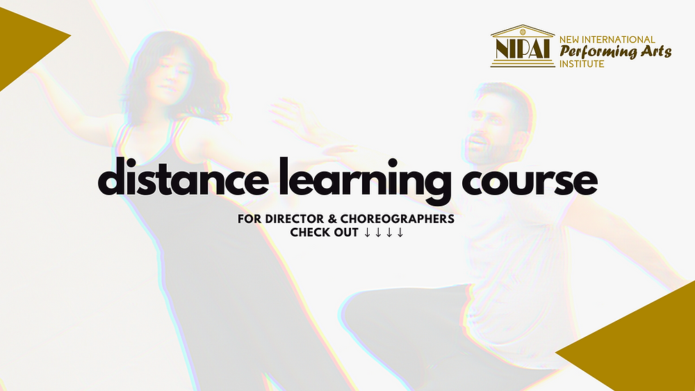 Distance Learning Education theatre, movement, choreography