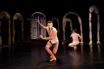 "Reharsals of ""Hamlet"" under direction of Sergei Ostrenko and Gennadiy Ostrenko"