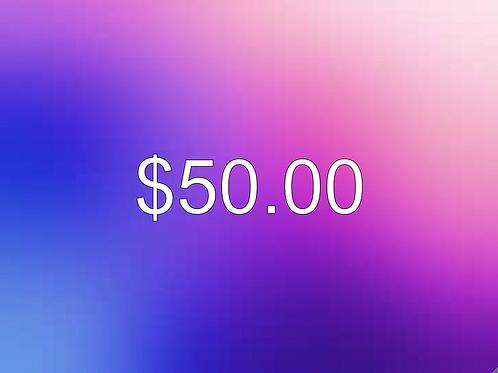 $50.00 Donation