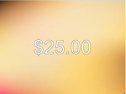 $25.00 Donation