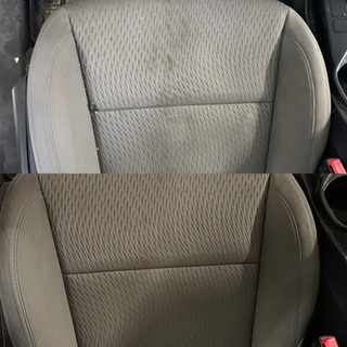 Driver's seat spill stains