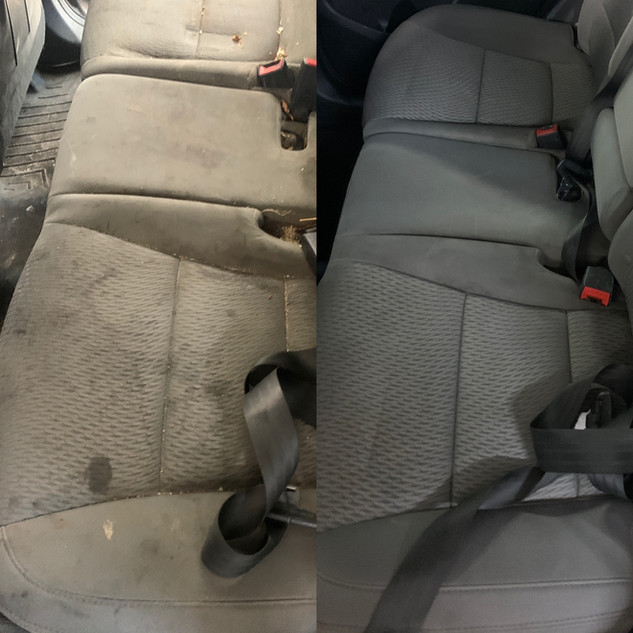Stained seats cleaned