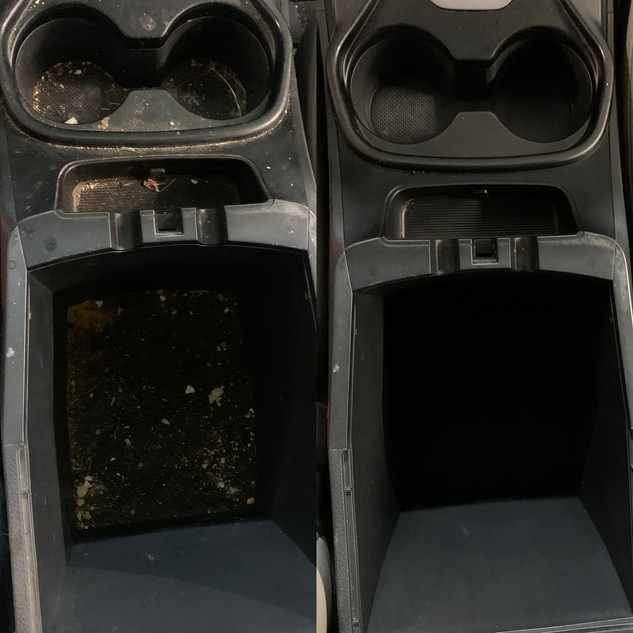 Center console cleaning