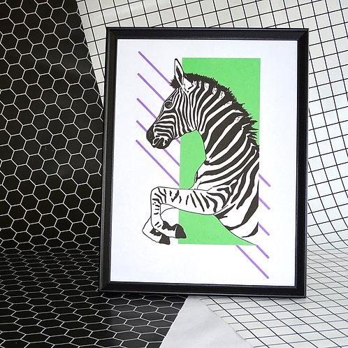 Left Facing Zebra