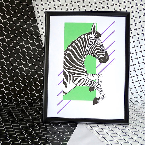 Right Facing zebra