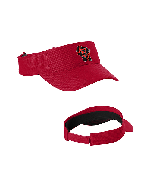 Embroidered Team Heat Action Visor