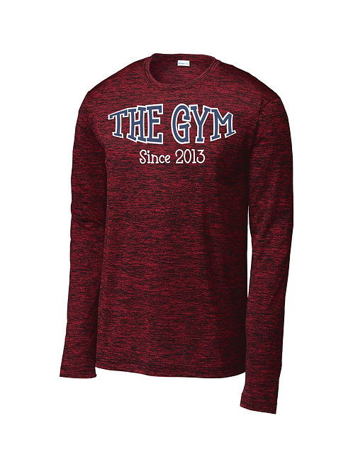 The Gym- Sport-Tek ® Long Sleeve PosiCharge ® Electric Heather Tee