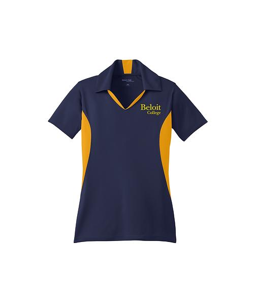 Beloit College Embroidered on True Navy/Gold Ladies Sport-Tek® Polo