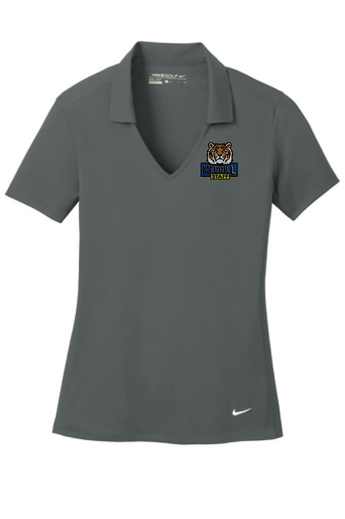 Embroidered Merrill Staff Nike Ladies Dri-FIT Vertical Mesh Polo