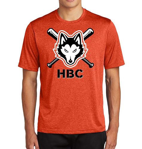 Harlem Huskies ADULT Deep Orange Heather Sport-Tek Contender Tee