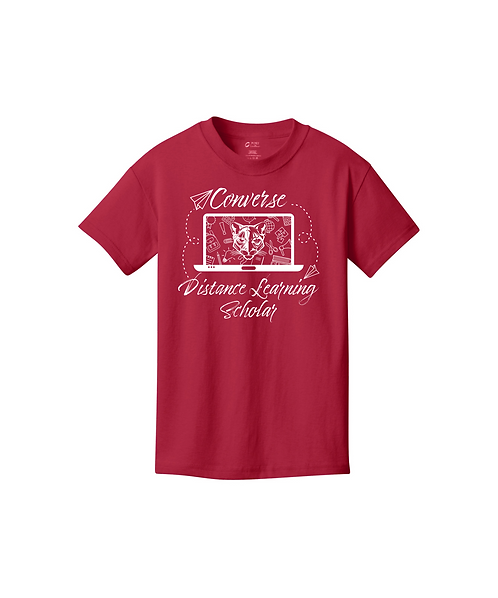 Youth Converse Distance Learning Graphic Unisex Core Cotton Tee