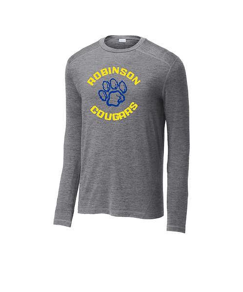 Robinson Elementary Men's Grey Heather Long Sleeve Crew