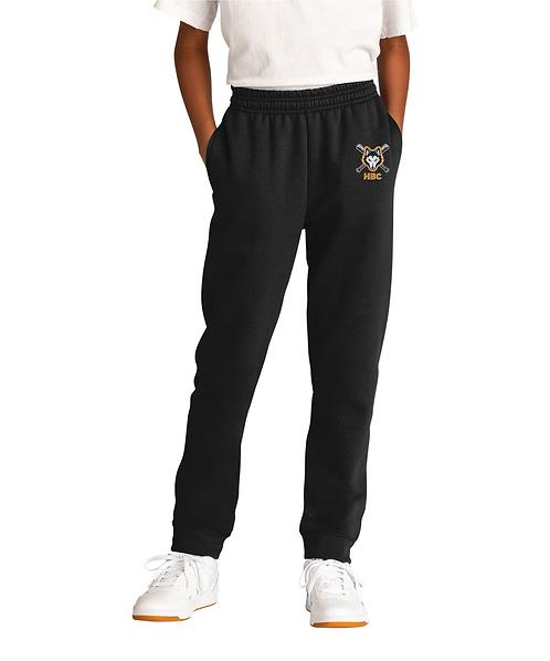 Harlem Huskies Embroidered Black YOUTH Jogger