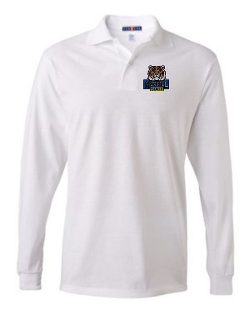 Embroidered Merrill Staff SpotShield 50/50 Long Sleeve Sport Shirt