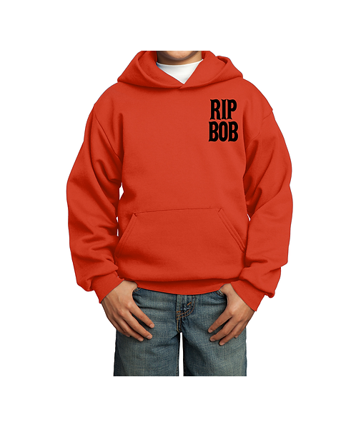 Harley Bob Orange Youth Core Fleece Pullover Hooded Sweatshirt