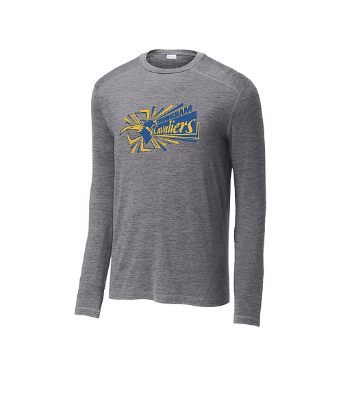 Cunningham Cavaliers Men's Grey Heather Long Sleeve Crew