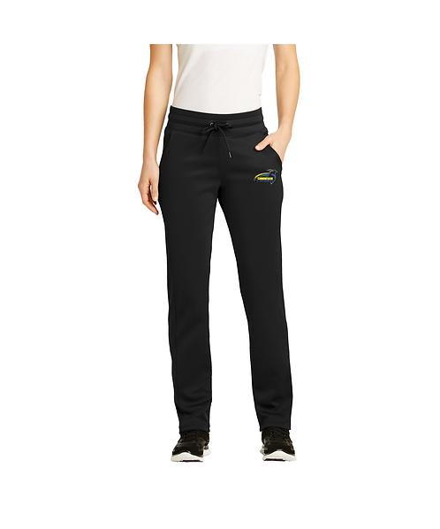 Cunningham Ladies Black Embroidered Sport-Wick® Fleece Pant