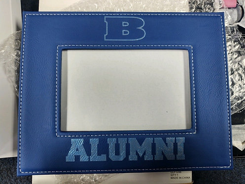"College Store 4"" x 6"" Blue/Silver Laserable Photo Frame"