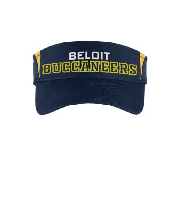 Beloit College Embroidered Navy/Gold Sport-Tek® Colorblock Visor