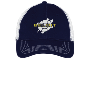 Beloit College Embroidered Navy/White District ® Mesh Back Cap