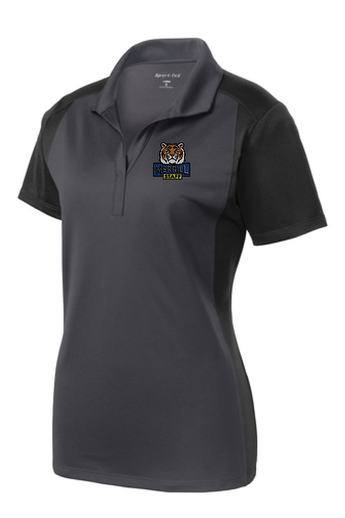 Embroidered Merrill Staff Ladies Colorblock Micropique Sport-Wick Polo